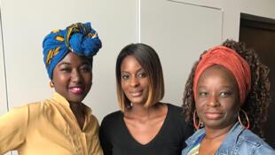 Adiaratou Diarrassouba, co-fondatrice du site L'Afro et du Festival fraîches women, Diara Ndiaye et Axelle Jah Njiké, créatrice du podcast Me My Sexe And I.