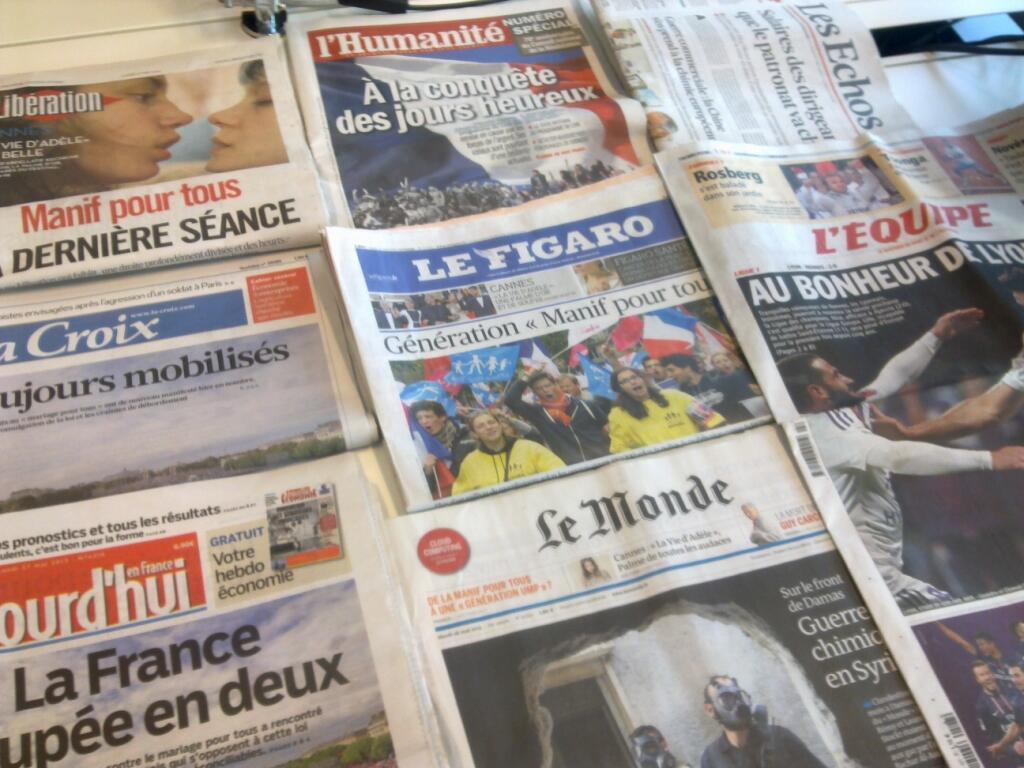 Diários franceses  27/05/2013