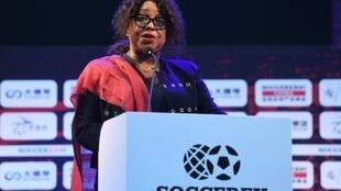 La secrétaire générale de la Fifa, Fatma Samoura.
