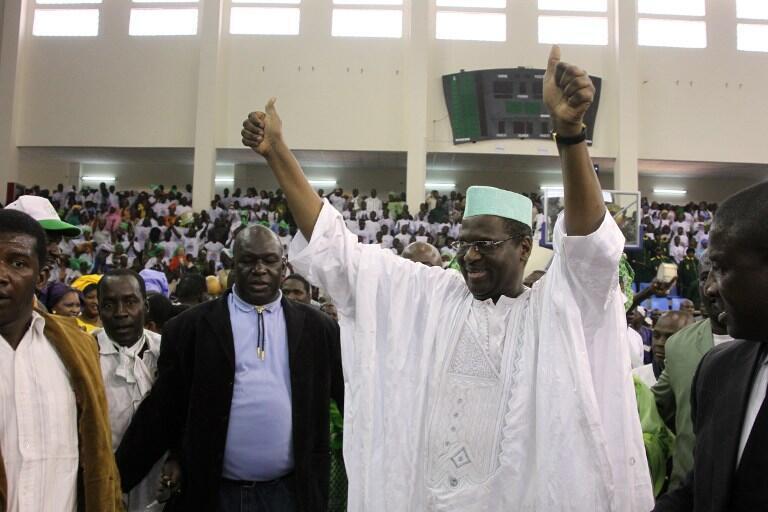 Maître Mountaga Tall du Congrès national d'initiative démocratique (Cnid), candidat à la prochaine élection présidentielle malienne prévue en juillet 2013.
