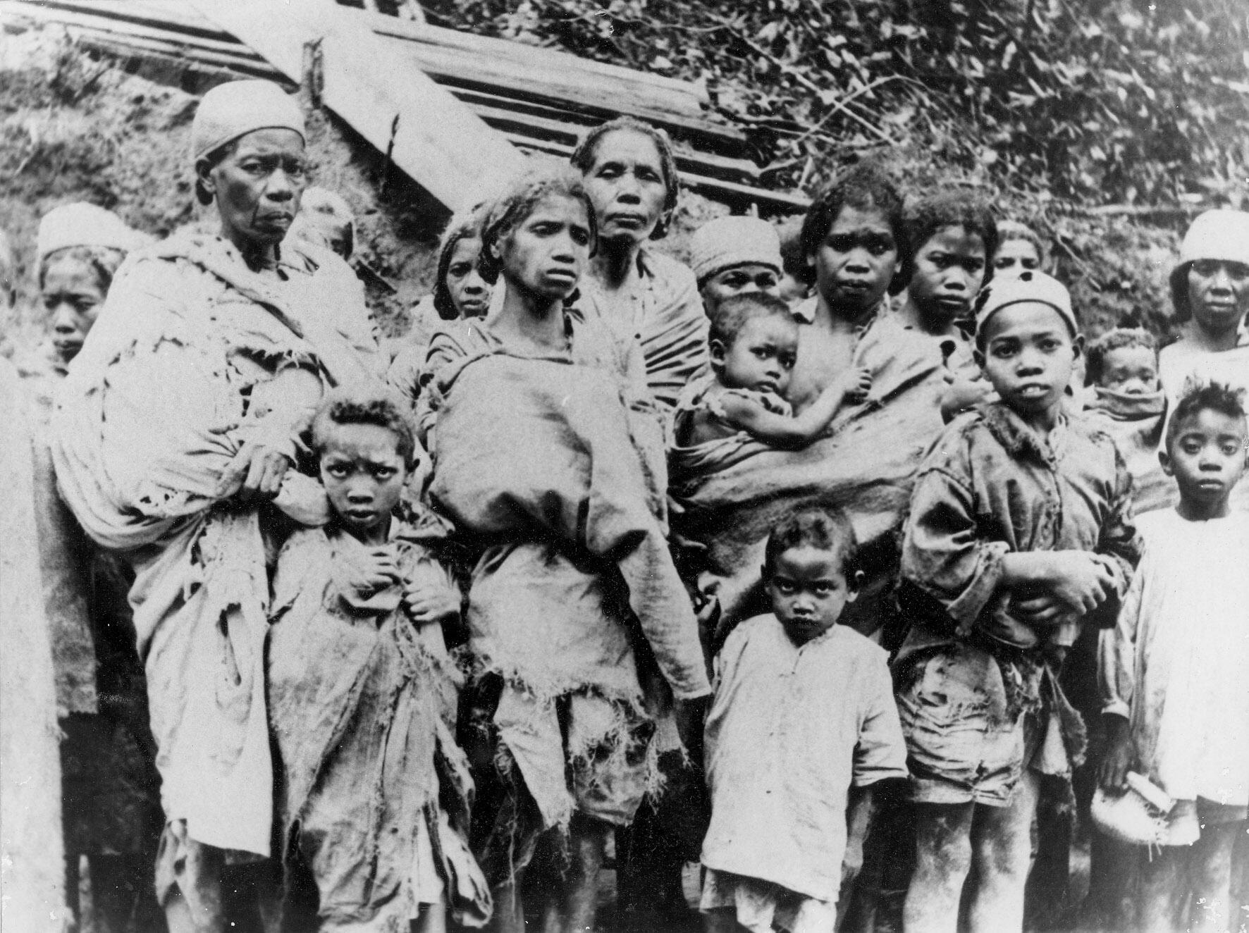 Décembre 1948. Encerclés, affamés, les insurgés sortent de la forêt où ils s'étaient réfugiés avec femmes et enfants.