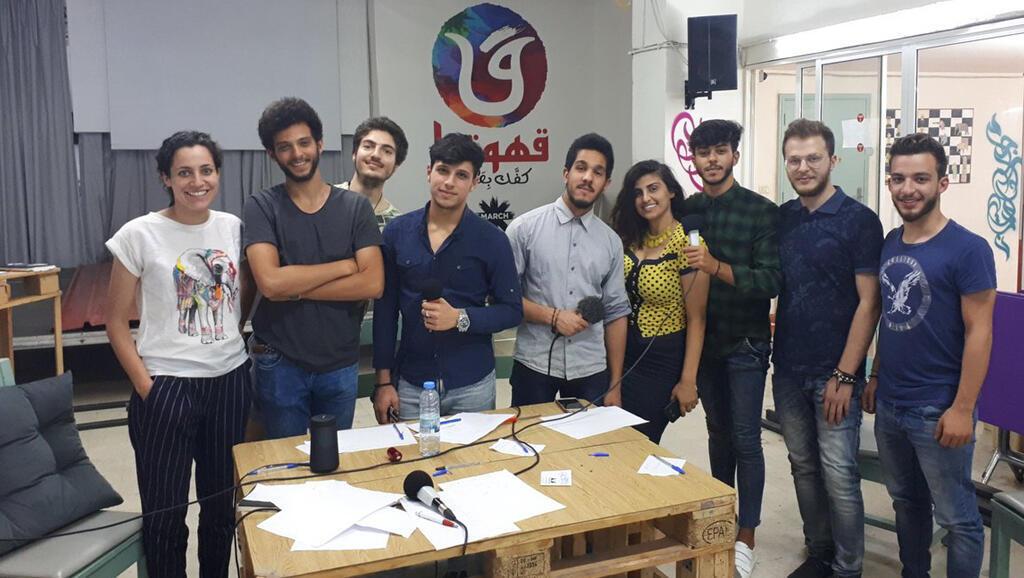 Les participants à l'atelier radio.
