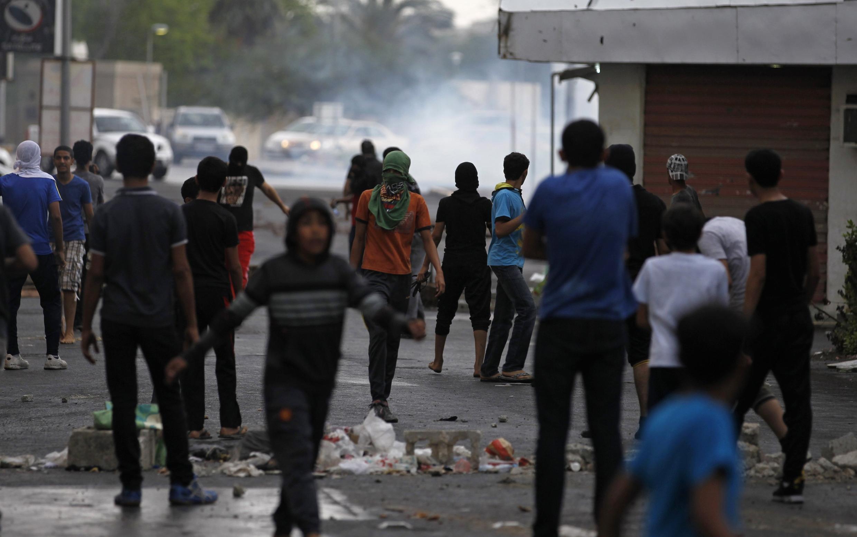 Manifestation antigouvernementale à Bahreïn, le 18 avril 2013.