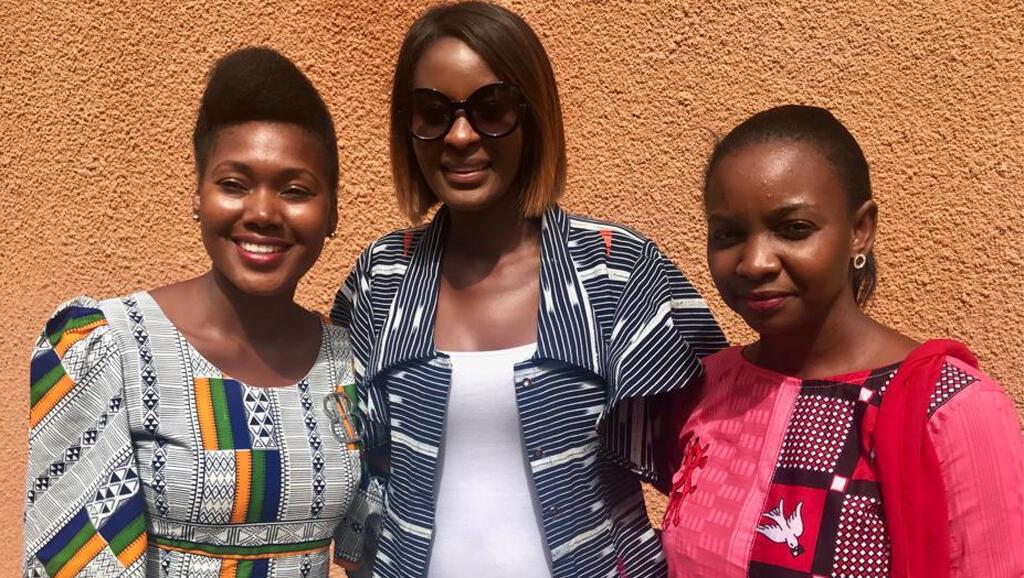 Biba, créatrice de la maque Mabiba ; Diara Ndiaye ; Hadiza, créatrice de la marque Hadiline Création.