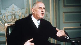 El presidente Charles de Gaulle en junio del 1968.