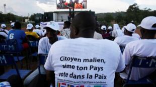Quelque huit millions de Maliens sont appelés aux urnes ce 29 juillet (photo d'illustration: Bamako le 23 juillet 2018).