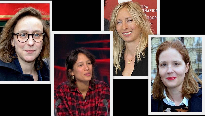 Fotomontagem com as quatro diretoras que estão na corrida pela Palma de Ouro: Céline Sciamma, Mati Diop, Jessica Hausner e Justine Triet.