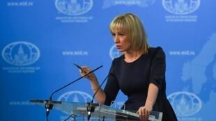 La porte-parole du ministère russe des Affaires étrangères Maria Zakharova, le 29 mars 2018 à Moscou.