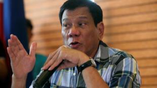 Tổng thống đắc cử Philippines Rodrigo Duterte tại Davao ngày 16/05/2016.