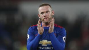 Wayne Rooney na kungiyar Manchester United.