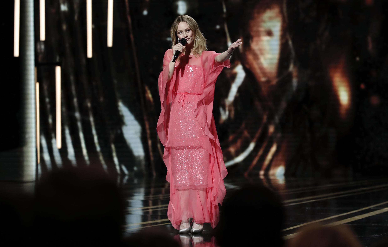 Vanessa Paradis, na entrega dos prêmio César do cinema francês.