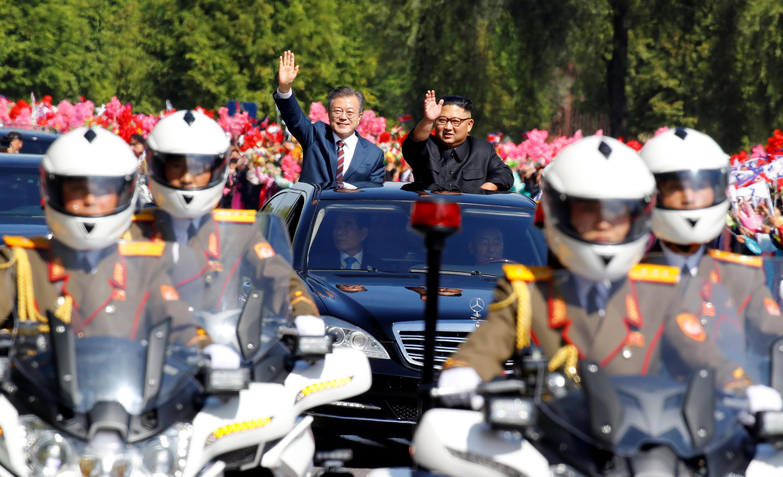 Муе Чжэ Ин впервые посетил Пхеньян в качестве президента Южной Кореи