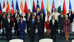 Ngoại trưởng các nước dự Diễn đàn ASEAN tại Singapore ngày 04/08/2018.