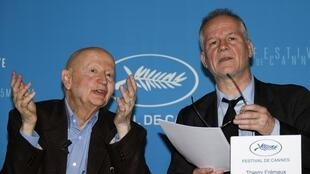 Cannes Film Festival director Gilles Jacob (L) and general delegate Thierry Fremaux