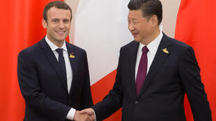Emmanuel Macron y Xi Jinping en Hamburgo en julio de 2017.