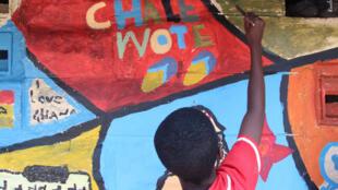 Image d'une manifestation du Chale Wote Street Art Festival à Accra. (Photo originale)