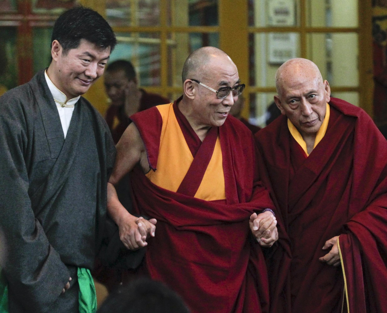 Sabon Shugaban al'umar Tibet masu gudun hijira Lobsang Sangay da Dalai Lama