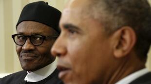 Mohammadu Buhari, le président nigérian, a été reçu par son homologue américain barack Obama à la Maison Blanche le 20 juillet.