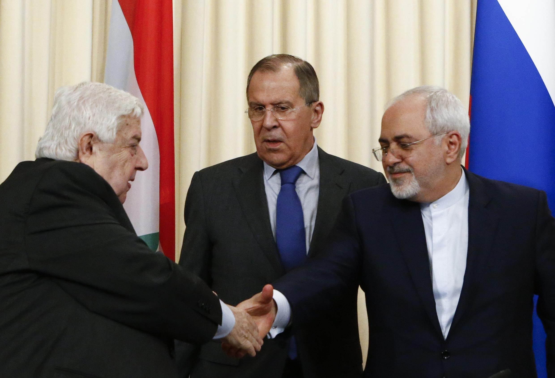 نشست سه جانبه وزرای خارجه ایران، روسیه و سوریه پیرامون آخرین تحولات سوریه در مسکو