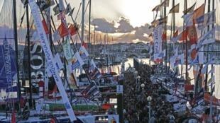 Яхты «Вандея Глоб» перед стартом Les Sables d'Olonne, 6 ноября 2012 года