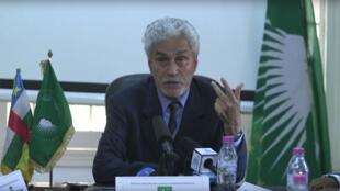 Mohamed Hacen Ould Lebatt est le conseiller stratégique spécial du président de la Commission de l'UA, Moussa Faki Mahamat. (Capture d'écran)