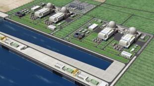 這是韓國將要為阿拉伯酋長國修建的核電站模型