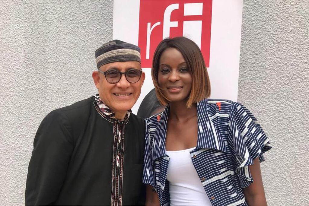 Alphadi, designer et fondateur du FIMA et Diara Ndiaye.