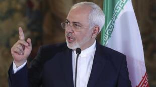 محمدجواد ظریف وزیر امور خارجه ایران.