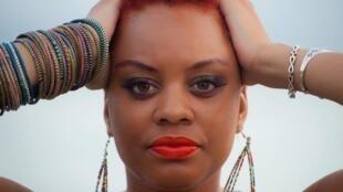 La chanteuse guadeloupéenne Stevy Mahy.