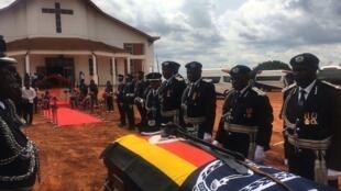 Baada ya ibada ya kumkumbuka Naibu Inspekta wa Polisi  Felix Andrew Kaweesi.