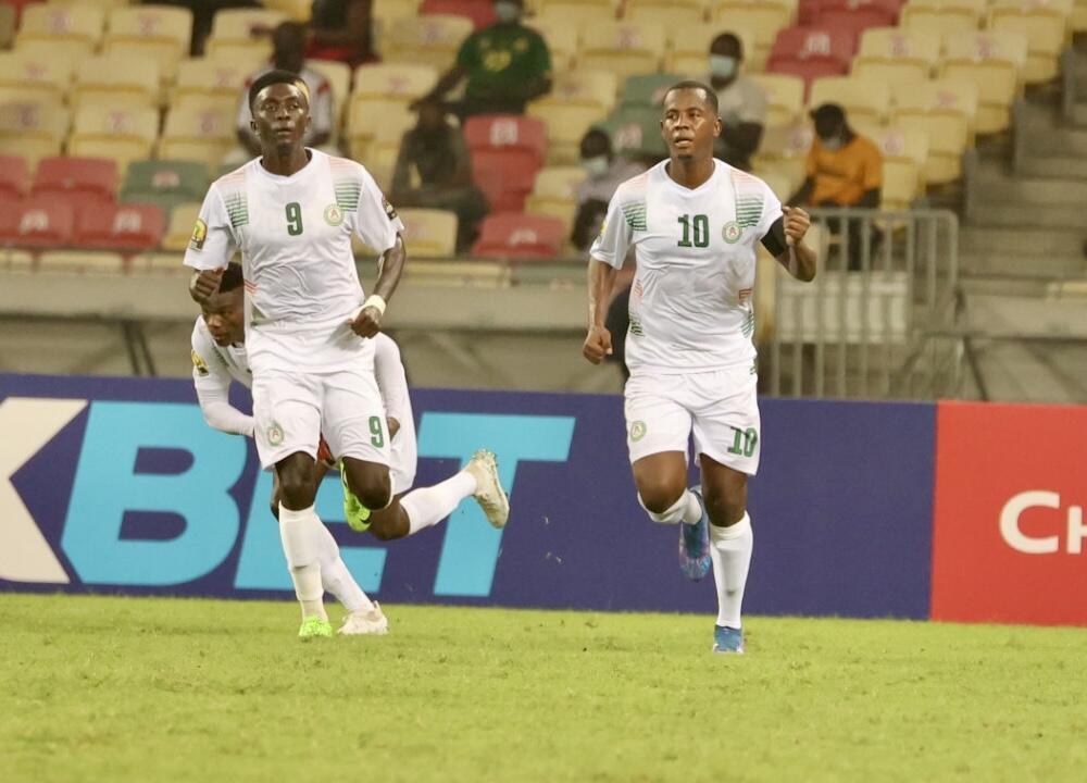 Mossi Issa Moussa, le n°10 nigérien, a égalisé sur penalty pour le Mena face au Congo-Brazzaville, le 21 janvier 2021.