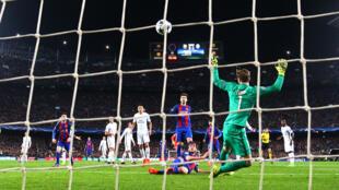 Bàn thắng thứ 6 của Barça do Sergi Roberto ấn định số phận Paris Saint-Germain ở phút cuối trận đấu trên sân Nou Camp ngày 08/03/2017.