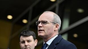 Le ministre des Affaires étrangères irlandais, Simon Coveney, le 20 janvier 2020.