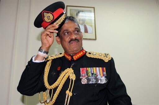 Le général Sarath Fonseka à Colombo, le 16 novembre 2009.
