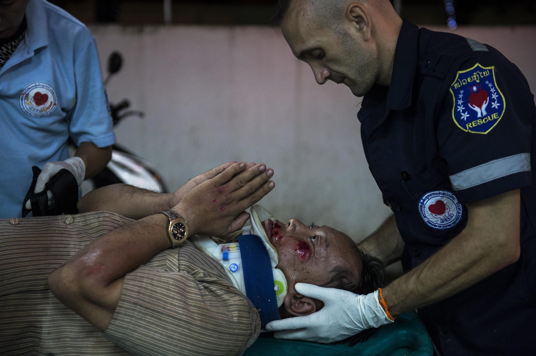 Sébastien Perret qui a créé «Vientiane Rescue», un service de secours d'urgence pour les victimes d'accident à Vientiane au Laos.