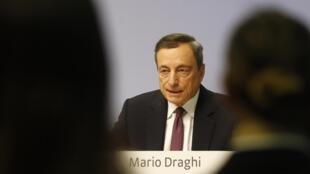 Le président de la Banque centrale européenne, Mario Draghi, lors d'une conférence de presse à Francfort, le 26 octobre 2017.
