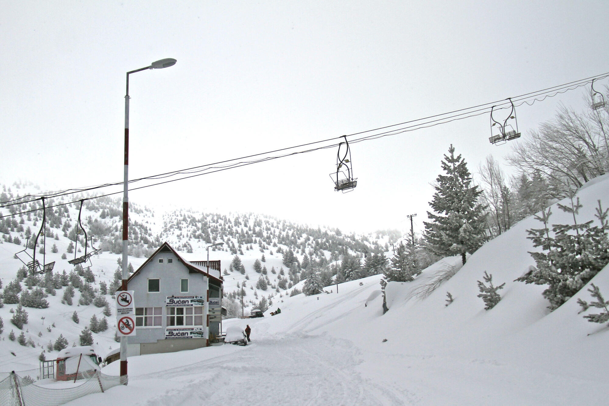 La station de ski de Brezovica.