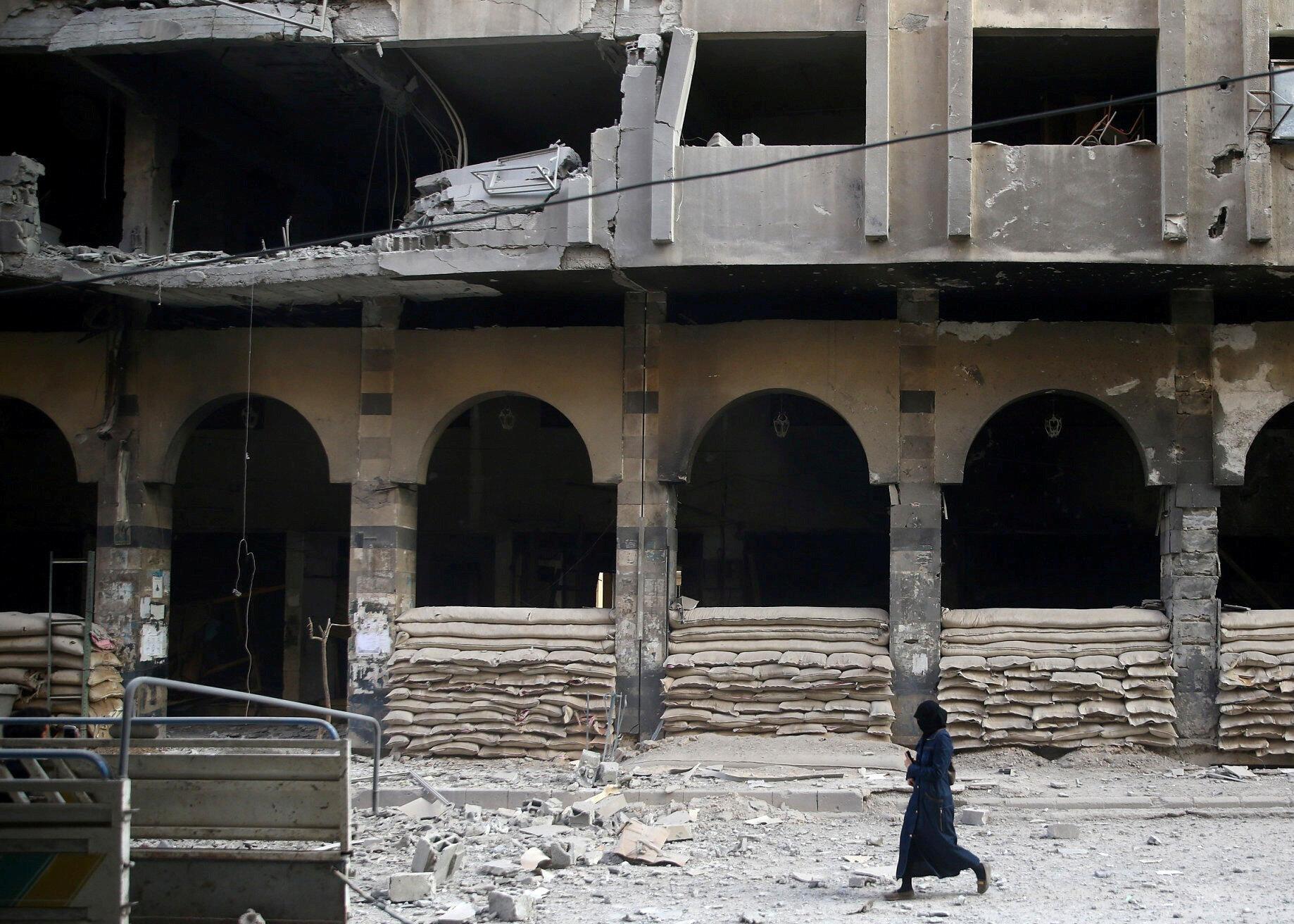 Улица в сирийском городе Дума, 2 ноября 2017.