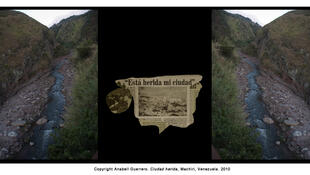 """""""Ciudad herida"""", Machiri, Venezuela, 2010, exposición """"Frontera""""."""