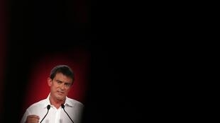 French Prime Minister Manuel Valls addresses party faithful at the Socialist summer school this weekend