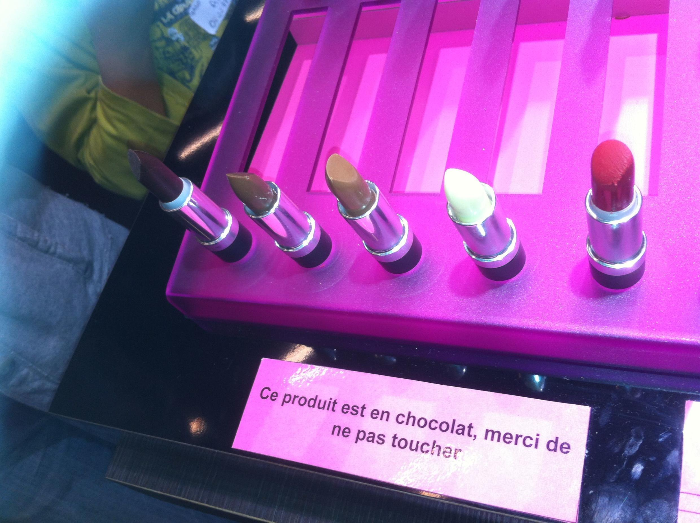 Lapices labiales de chocolate