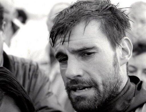 Бенуа Лекомт после пересечения Атлантики вплавь, 1998 год.