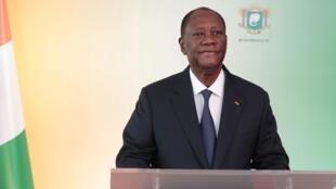 « Je suis candidat à l'élection présidentielle du 31 octobre », a annoncé Alassane Ouattara dans son discours à la nation.