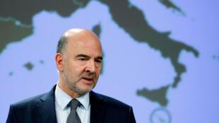 O comissário europeu de Assuntos Financeiros, Pierre Moscovici.