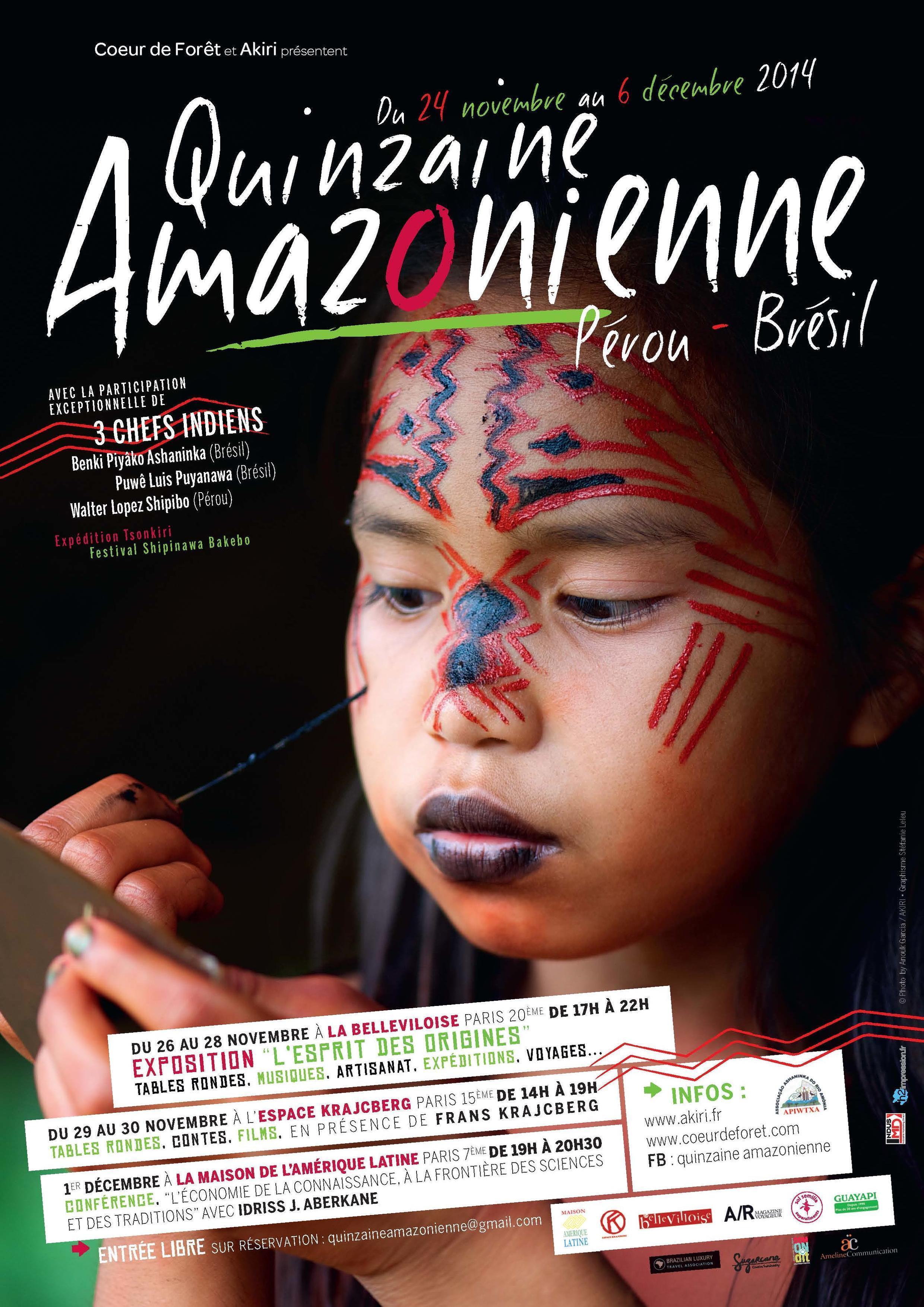 Affiche Quinzaine Amazonienne.