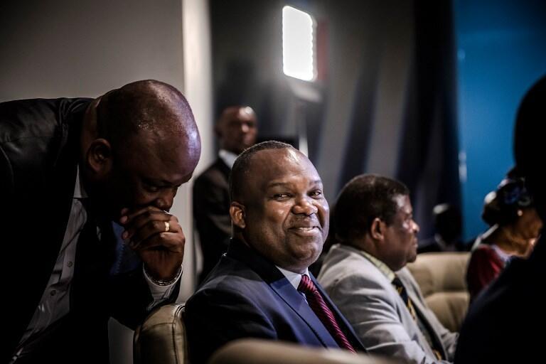Mwenyekiti wa Tume Huru ya Uchaguzi DRC (CENI) Corneille Nangaa katika mkutano na waandishi wa habari Kinshasa.