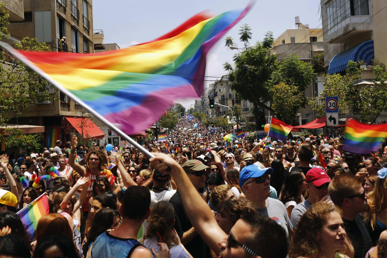 Ежегодный гей-прайд парад в Тель-Авиве 13/06/2014