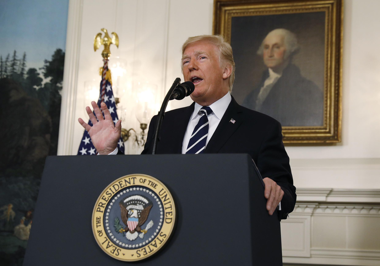 Donald Trump fez discurso após ataque em Las Vegas.