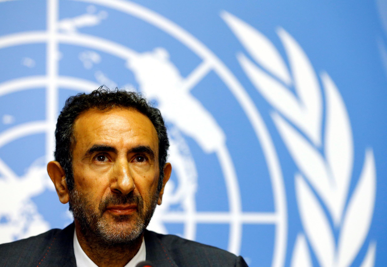 Fatsah Ouguergouz, presidente da comissão de investigação da ONU sobre o Burundi, a 4 de Setembro de 2017, em Genebra.