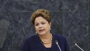 La présidente Dilma Roussef à la tribune des Nations unies, le 24 septembre 2013.